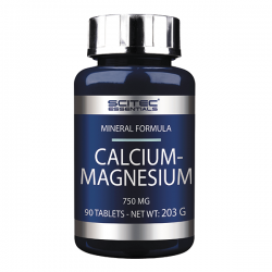 Calcio y  Magnesio 750mg - 90 tabletas [Scitec Essentials]