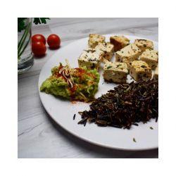 Tofu Ecológico con Arroz Nerone y Aguacate