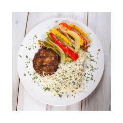 Hamburguesa Heura 100% Vegetal con Arroz y Pimientos