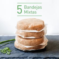 Pack 5 bandejas burguer fit - Maria Natura