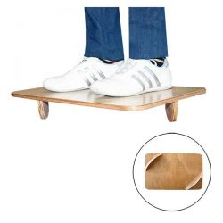 Wooden balance board with semicircles