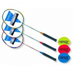 Raqueta Badminton de Acero y Aluminio con  Funda