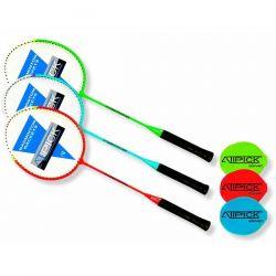 Raqueta Badminton de Acero con Funda