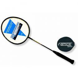 Raqueta Badminton de Aluminio y Carbono con Funda