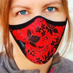 Máscara Reutilizável Estampada para Mulheres - BKFit SW