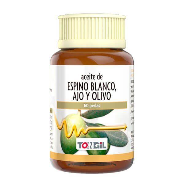 Aceite de Espino Blanco, Ajo y Olivo - 60 Softgels