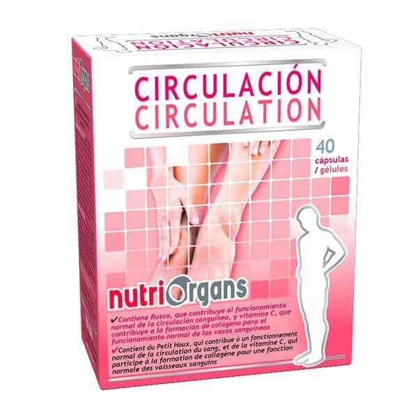 NutriOrgans Circulación - 40 Cápsulas