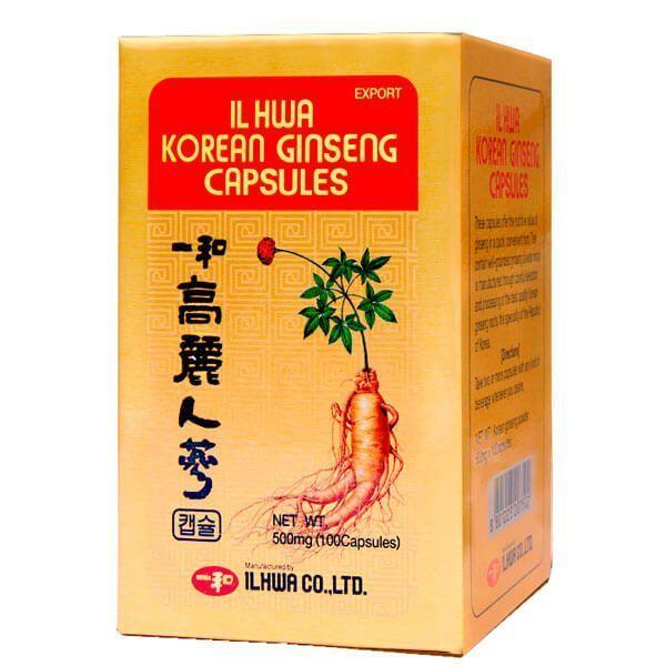 Ginseng Coreano IL HWA - 100 Cápsulas