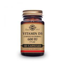 Vitamina D3 (Colecalciferol) 600 IU (15mg) - 60 Cápsulas [Solgar]