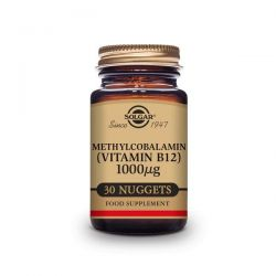 Vitamina B12 1000 mg (Metilcobalamina) - 30 Comprimidos sublinguales - masticables [Solgar]