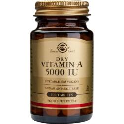 Vitamina Seca A 5000IU - 100 Tabletas