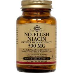 No Flush Niacina 500mg - 50 Cápsulas Vegetales