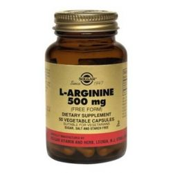 L-arginina 500mg - 50 Cápsulas vegetales