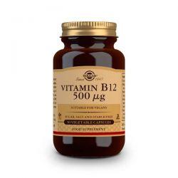 Vitamina B12 500mcg (Cianocobalamina) - 50 Cápsulas vegetales