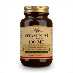 Vitamina B1 100mg - 100 cápsulas vegetais
