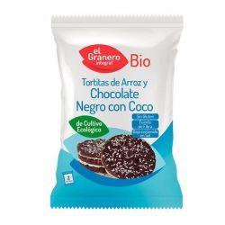 Rice pancakes with dark chocolate and organic coconut - 33g