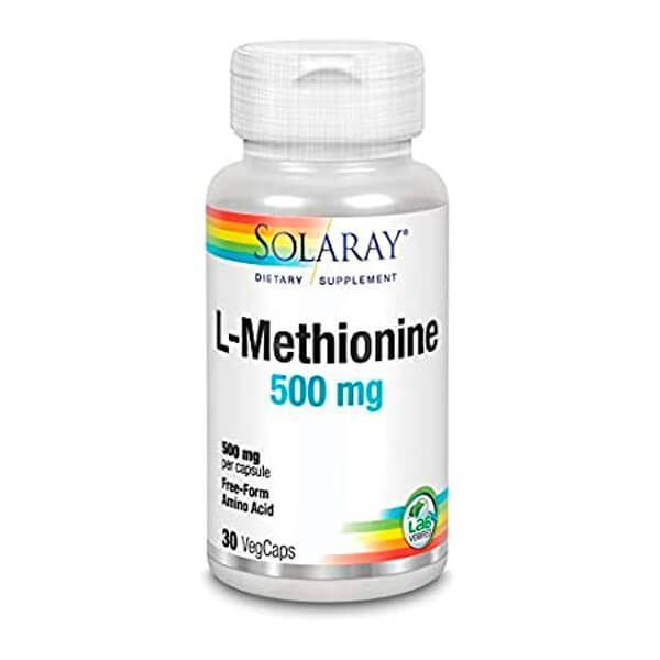 L-Metionina 500mg - 30 Cápsulas vegetales
