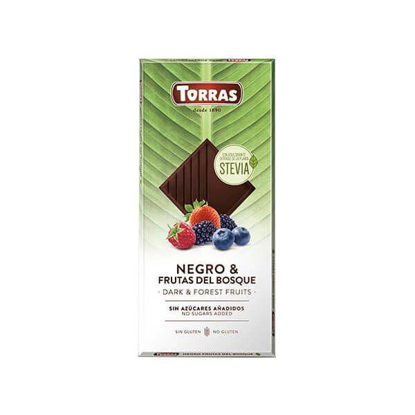 Chocolate Negro con Frutos del Bosque con Stevia - 125g