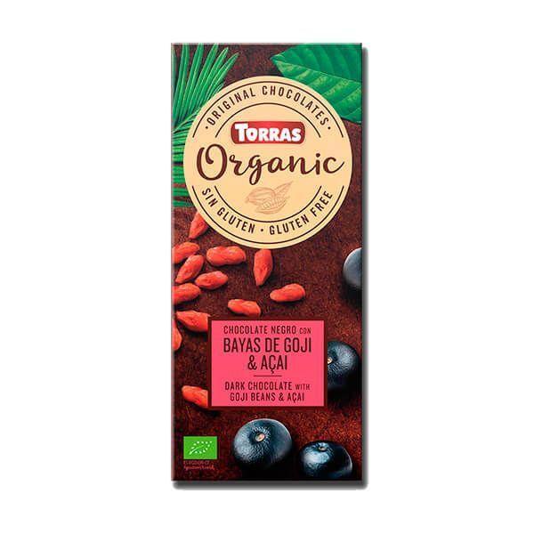 Chocolate Negro con Bayas de Goji y Acaí Orgánico - 100g