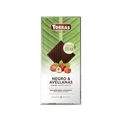 Dark chocolate with hazelnuts with stevia - 125g