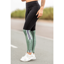 Legging Bar Layered Verde Militar y Negro