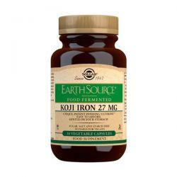 Earth Source® Koji Iron Food Fermented 27mg - 30 Cápsulas vegetales
