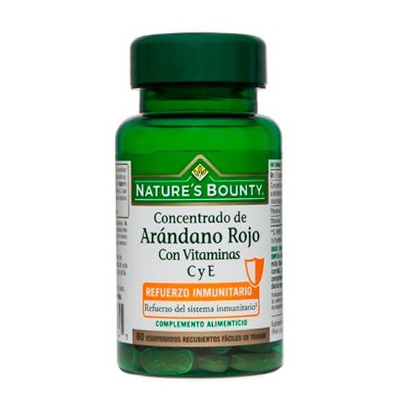 Concentrado de Arándano Rojo con Vitaminas C y E - 60 Cápsulas