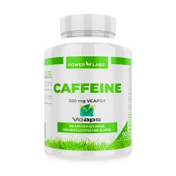 Cafeína 200mg envase de 90 cápsulas vegetales de Power Labs (Pre-Entrenamiento)