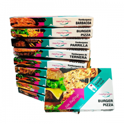 Pack de 9 Bandejas de Hamburguesas Meat Protein