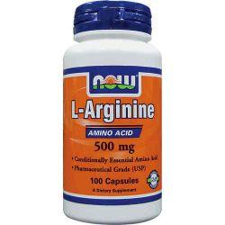 Arginine 500mg - 100 caps [Now Foods]