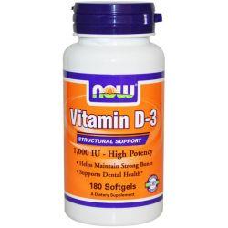 Vitamina D3 1000IU - 180 Softgels