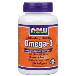 NOW Omega-3 1000 mg Cholesterol Free - 100 Softgels