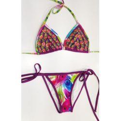 Bikini babalu purple triangles