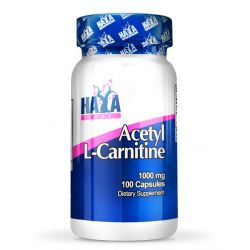 Acetil l-carnitina 1000mg - 100 cápsulas [Haya Labs]
