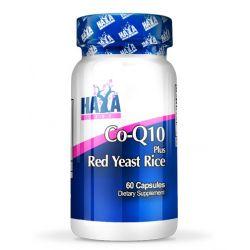 CoQ10 60 mg y Levadura Roja de Arroz 500mg - 60 cápsulas [Haya Labs]